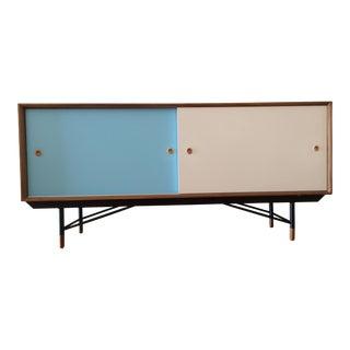 Finn Juhl Style Multi Color Walnut Veneer Sideboard