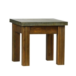 Metal Top Square Side Table