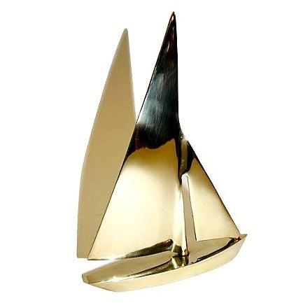 Vintage Brass Sailboat - Image 1 of 3