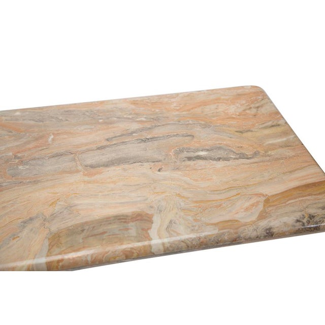 Variegated Marble Console Table - Image 4 of 10