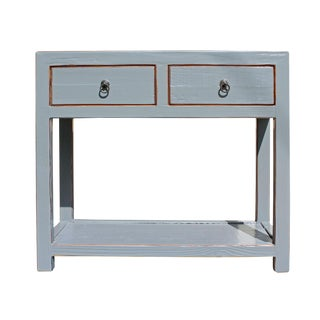 Chinese Gray Raw Wood Console Table