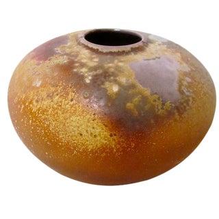 Tony Evans Sculptural Raku Pottery Vessel Pot