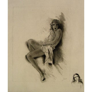 Nude by Édouard Chimot Etching