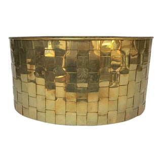 Chapman Large Woven Brass Container