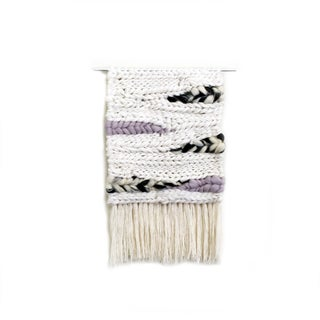 Lilac & Creme Woven Wall Hanging