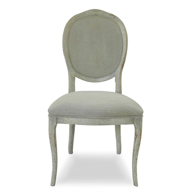 Abrella Oval Back Beige & White Dining Chairs - Set of 4 - Image 2 of 4