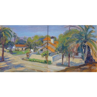 Horse Trails in Santa Barbara Diptych Painting