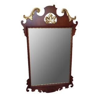 Gold Leafed Mahogany Mirror