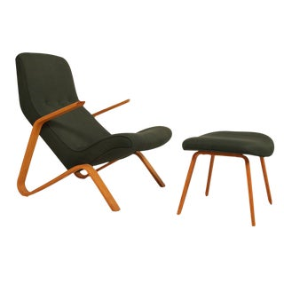 Vintage Eero Saarinen for Knoll Grasshopper Chair & Ottoman