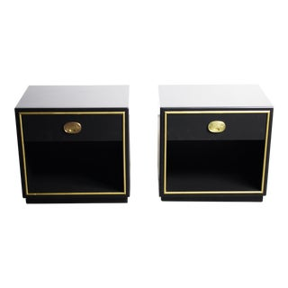 Drexel Hollywood Regency End/Bedside Table - Set of 2