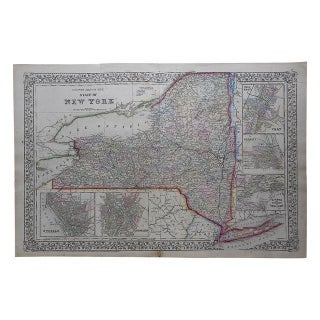 Antique Map of New York State