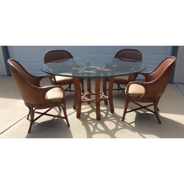 Rattan Dining Table And Chairs: Glass, Bamboo, Rattan, And Leather Dining Table And Chairs