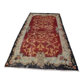 Turkish Oushak Rug- 4′8″ × 9′3″
