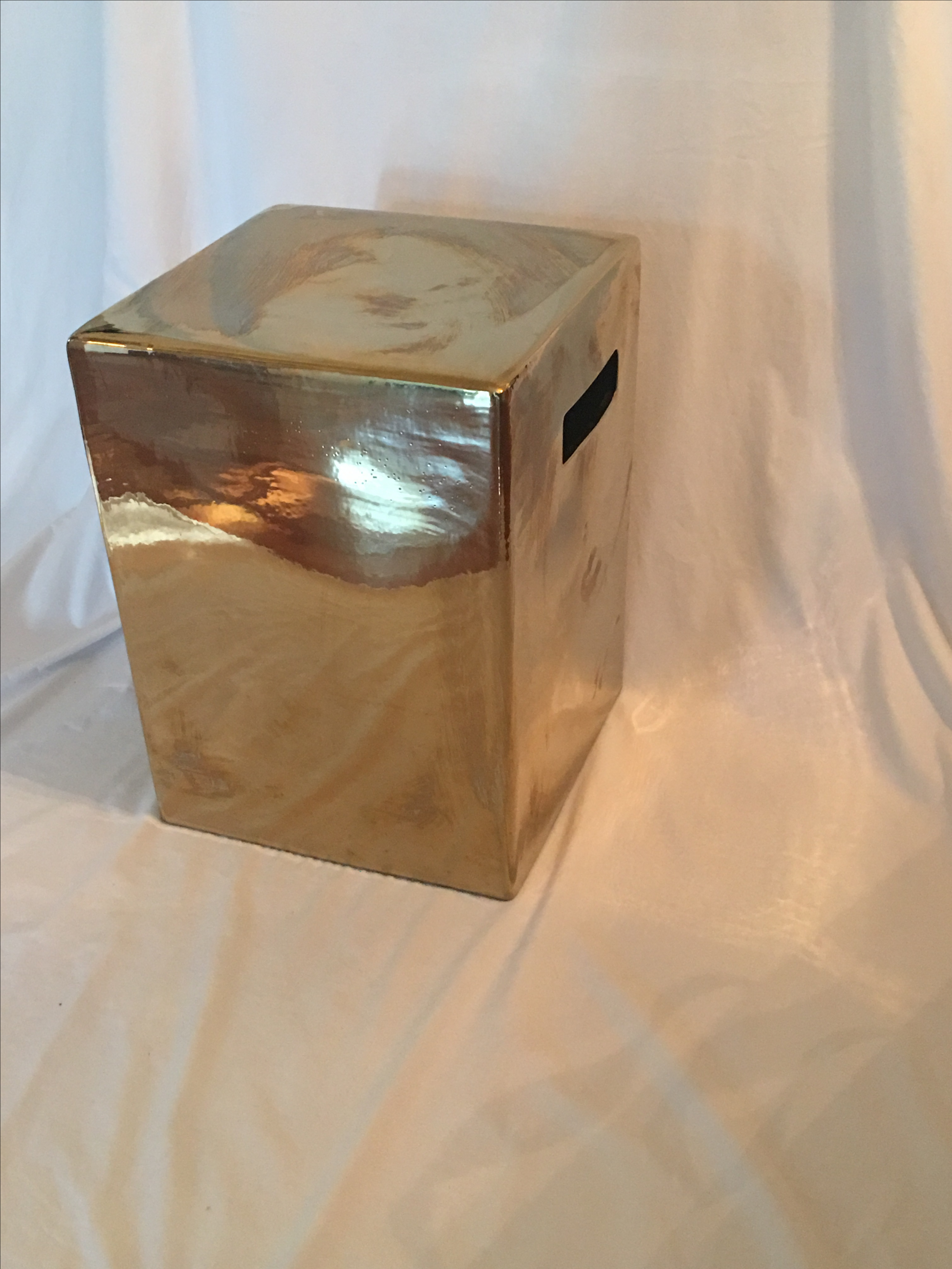 Gold Square Garden Stool   Image 3 Of 4