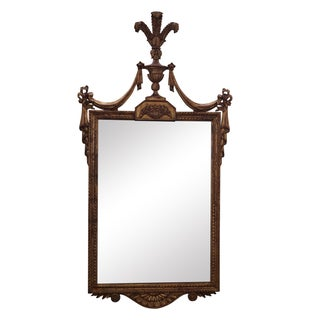 Vintage Italian Carved Louis XV Gilt Wood Mirror