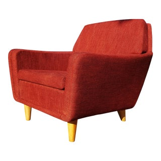 Folke Ohlsson for DUX Red Lounge Chair