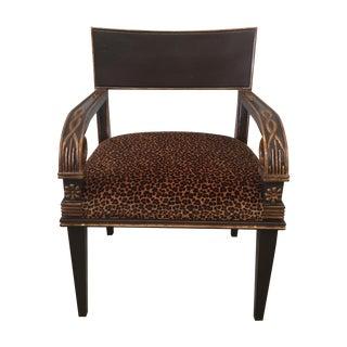 Nancy Corzine Leopard Print Chair
