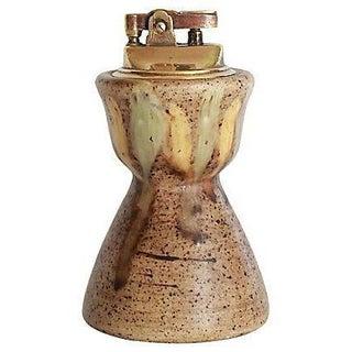 Mid-Century Ceramic Hourglass Table Lighter