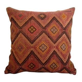 Turkish Red Kilim Pillow