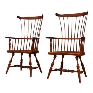 Duckloe Highback Gentleman's Windsor Chairs - A Pair
