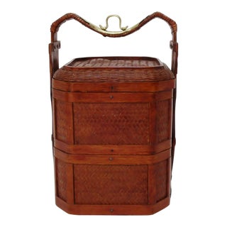 Chinese Wicker Lunch Basket