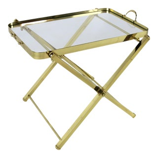 Brass Tray Table by Charles Hollis Jones