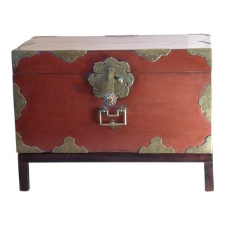 Japanese Laquer Chest on Stand
