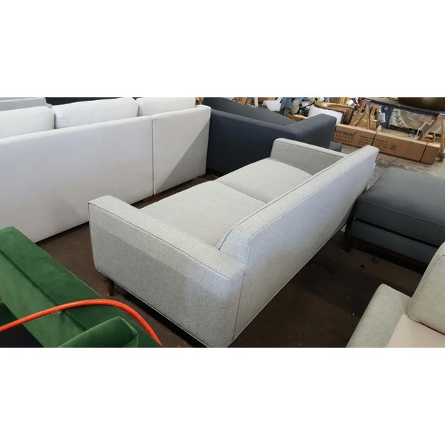 Brand New Mid Century-Inspired Custom Gray Sofa - Image 5 of 5