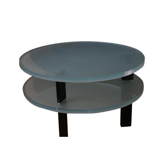 Glass Saporiti Italia End Tables - Image 1 of 4