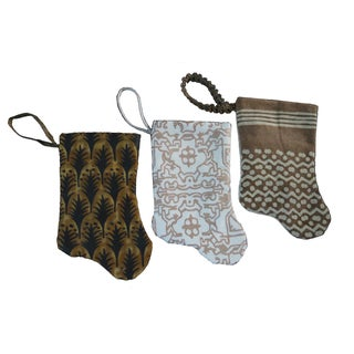 Fortuny Mini Stocking Ornaments - Set of 3