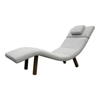 Finn Juhl Style Mid-Century Wave Chaise Lounge Chair