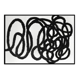 """""""Black and White Squiggle No. 2"""" Abstract Painting"""