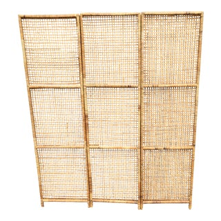 Rattan Screen Room Divider
