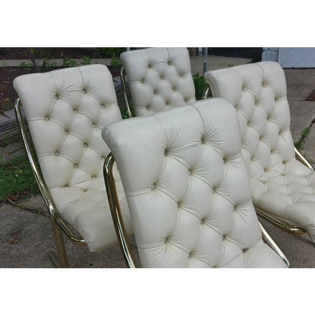 Daystrom Tufted White Dining Chairs - Set of 4 - Image 5 of 10