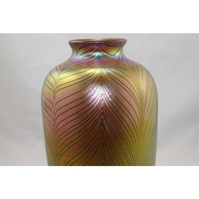 Contemporary Steuben Style Gold Vase - Image 6 of 11