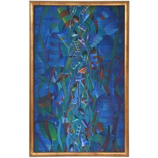 Claudio Dinzelbacher Blue Surrealist Painting