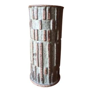 Mid Century Brutalist Art Pottery Vase