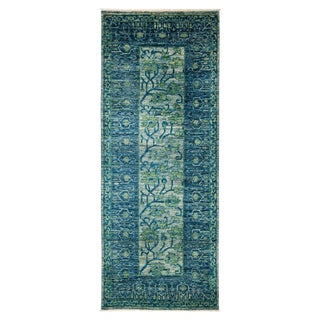 "Vibrance Green & Blue Runner - 3'3"" X 8'2"""
