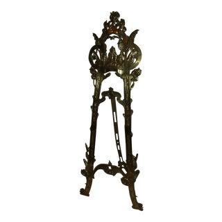 Vintage Art Nouveau Style Brass Floor Easel