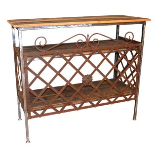 Custom Iron and Reclaimed Wood Console Table