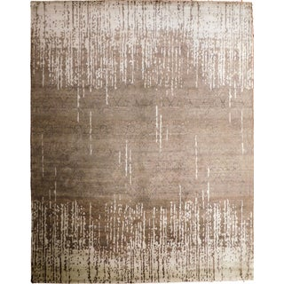 Contemporary Hand-Knotted Luxury Rug - 8' x 10'2""