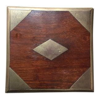 Antique English Mahogany & Brass Box