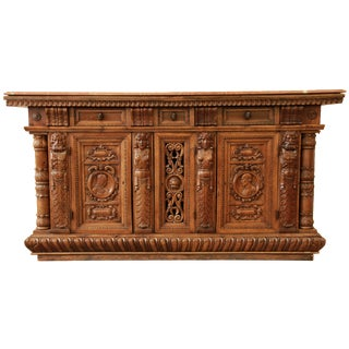 Belgian Carved Sideboard
