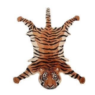 Vintage Wool Tiger Rug
