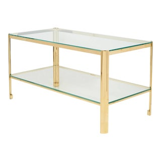 Bronze and Glass Cocktail Table by Jacques Quinet for Maison Malabert