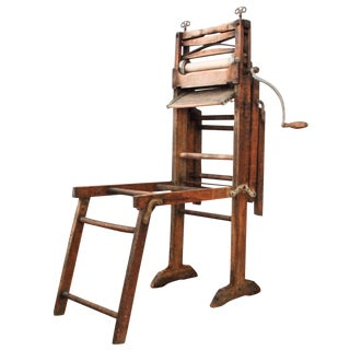 Antique Wooden Laundry Wringer