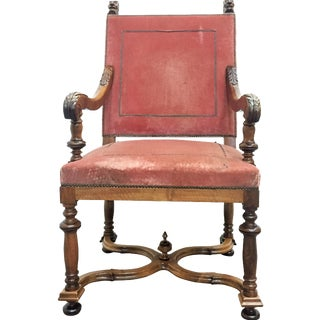 19th-C. French Louis XIII-Style Armchair