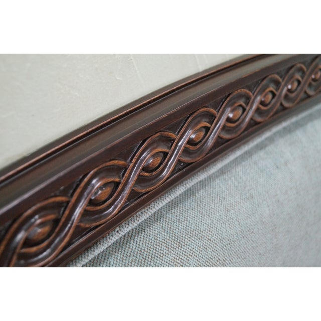 French Louis XVI Tufted Upholstered King Headboard - Image 5 of 10
