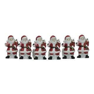 Ceramic Holiday Napkin Rings - Set of 6