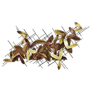 Mid-Century Abstract Brass Wall Sculpture
